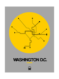 Washington DC Yellow Subway Map