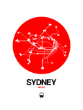 Sydney Red Subway Map