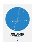 Atlanta Blue Subway Map