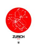 Zurich Red Subway Map