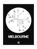 Melbourne White Subway Map