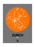 Zurich Orange Subway Map