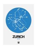 Zurich Blue Subway Map