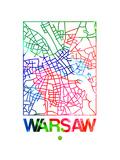 Warsaw Watercolor Street Map