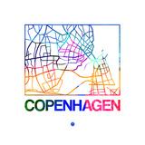 Copenhagen Watercolor Street Map