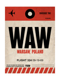 WAW Warsaw Luggage Tag I