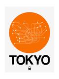 Tokyo Orange Subway Map