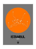 Istanbul Orange Subway Map