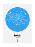 Paris Blue Subway Map