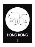 Hong Kong White Subway Map