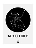 Mexico City Black Subway Map