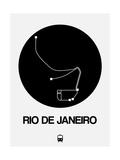 Rio De Janeiro Black Subway Map