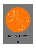 Melbourne Orange Subway Map