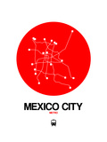 Mexico City Red Subway Map
