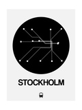 Stockholm Black Subway Map