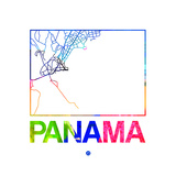 Panama Watercolor Street Map
