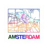Amsterdam Watercolor Street Map