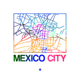 Mexico City Watercolor Street Map