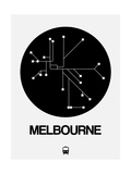 Melbourne Black Subway Map