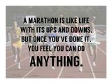 A Marathon is Like Life