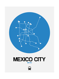 Mexico City Blue Subway Map