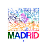 Madrid Watercolor Street Map