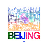 Beijing Watercolor Street Map
