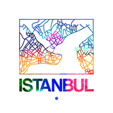 Istanbul Watercolor Street Map