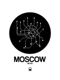 Moscow Black Subway Map