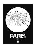 Paris White Subway Map Reproduction d'art par NaxArt