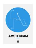 Amsterdam Blue Subway Map