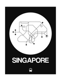 Singapore White Subway Map