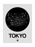 Tokyo Black Subway Map Reproduction d'art par NaxArt