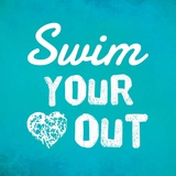 Swim Your Heart Out - Teal
