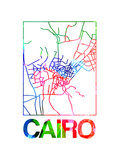 Cairo Watercolor Street Map