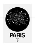 Paris Black Subway Map