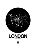 London Black Subway Map