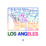 Los Angeles Watercolor Street Map