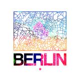 Berlin Watercolor Street Map