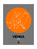 Vienna Orange Subway Map
