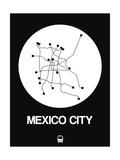 Mexico City White Subway Map