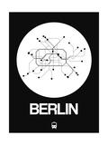 Berlin White Subway Map Reproduction d'art par NaxArt