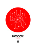 Moscow Red Subway Map