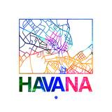 Havana Watercolor Street Map
