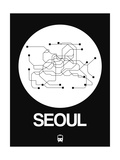 Seoul White Subway Map
