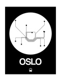 Oslo White Subway Map