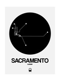 Sacramento Black Subway Map
