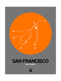 San Francisco Orange Subway Map
