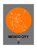 Mexico City Orange Subway Map