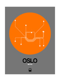 Oslo Orange Subway Map